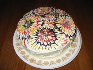 Maddie's Tie Die or Spirograph Spice Cake