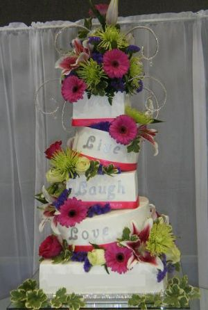 "Wonderful ""Topsy Turvy"" Cake using the Cake Stackers Supports Systems! (Photo used by permission of Cake Stackers) Save 5% with Coupon Code ACC509"