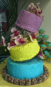3 Tiered Cake using Cake Stackers Genesis Cake Support System and Topsy Turvy Kit (photo courtesy of Cake Stackers)